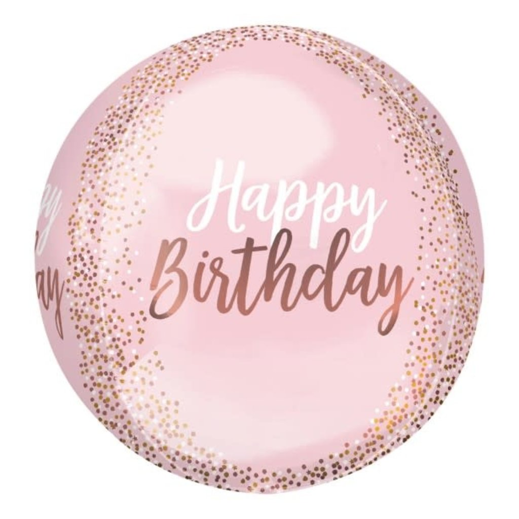 Anagram Happy Birthday - Orbz folieballon