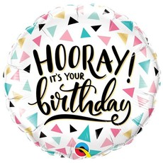 "Anagram Hooray it's your birthday - folieballon (18"")"
