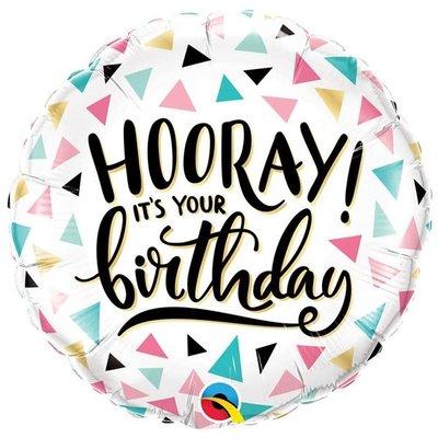 Anagram Hooray it's your birthday - Folieballon (45cm)