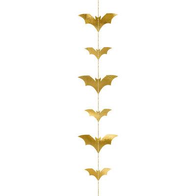 Halloween slinger - Vleermuizen (goud)