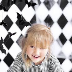 Halloween slinger - Vleermuizen (zwart)