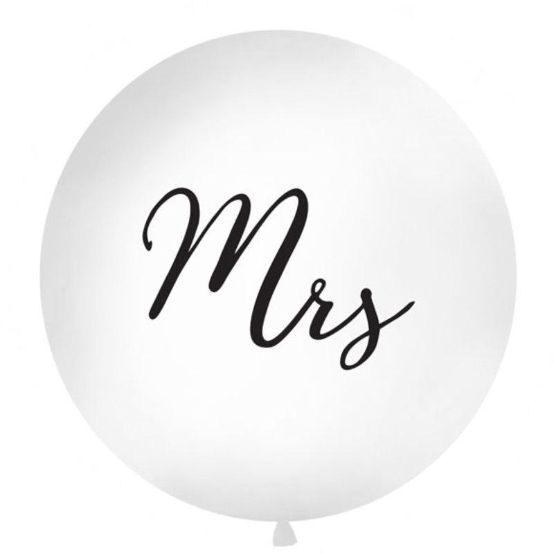 Partydeco Megaballon - Mrs (90cm)