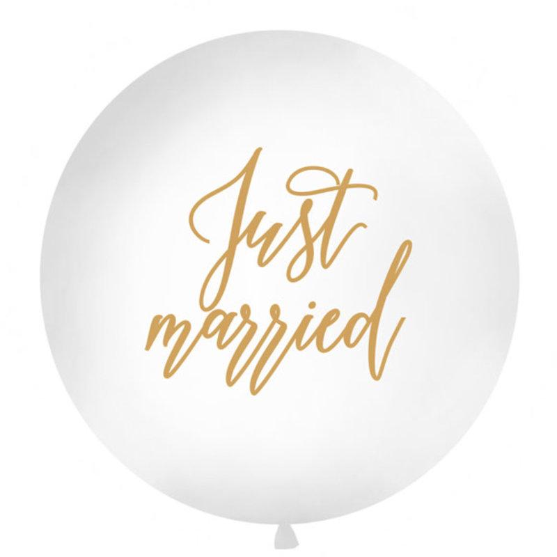 Partydeco Megaballon - Just married (1m)
