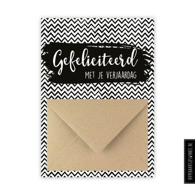 Wenskaart enveloppe - Gefeliciteerd