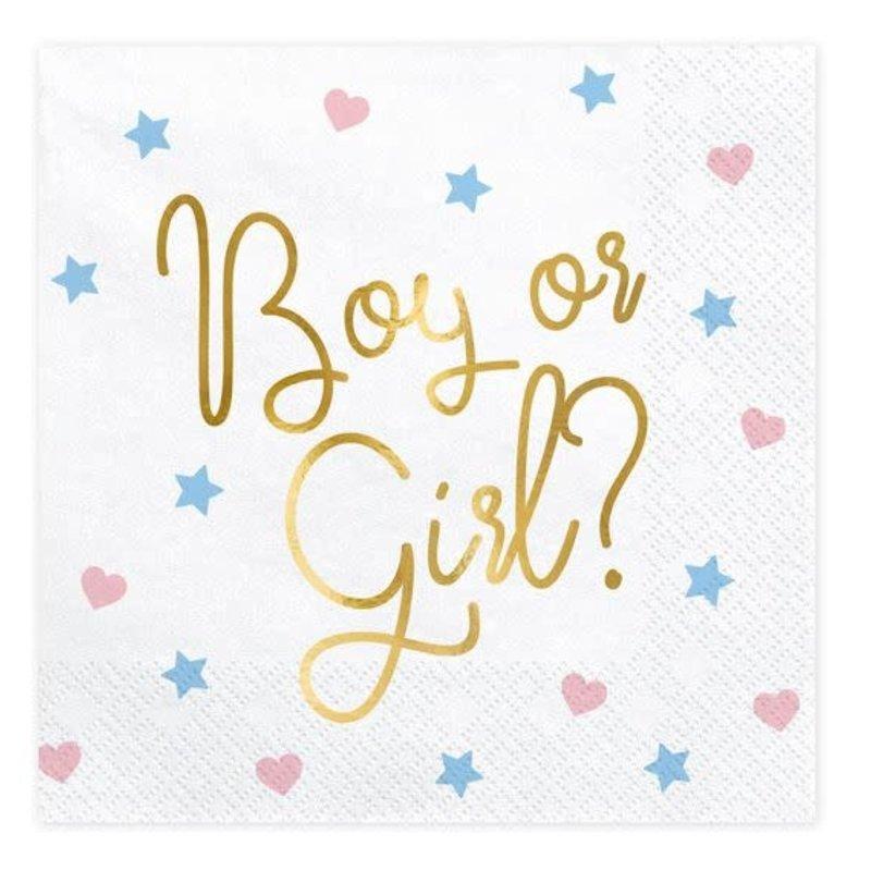 Partydeco Servetten Boy or Girl? (20st)