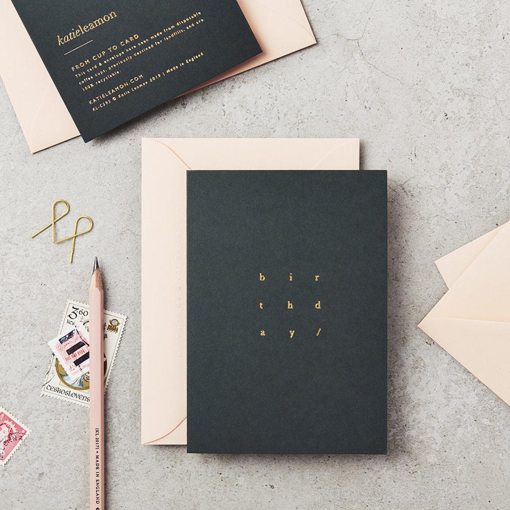 Katie Leamon Wenskaart - Birthday cube