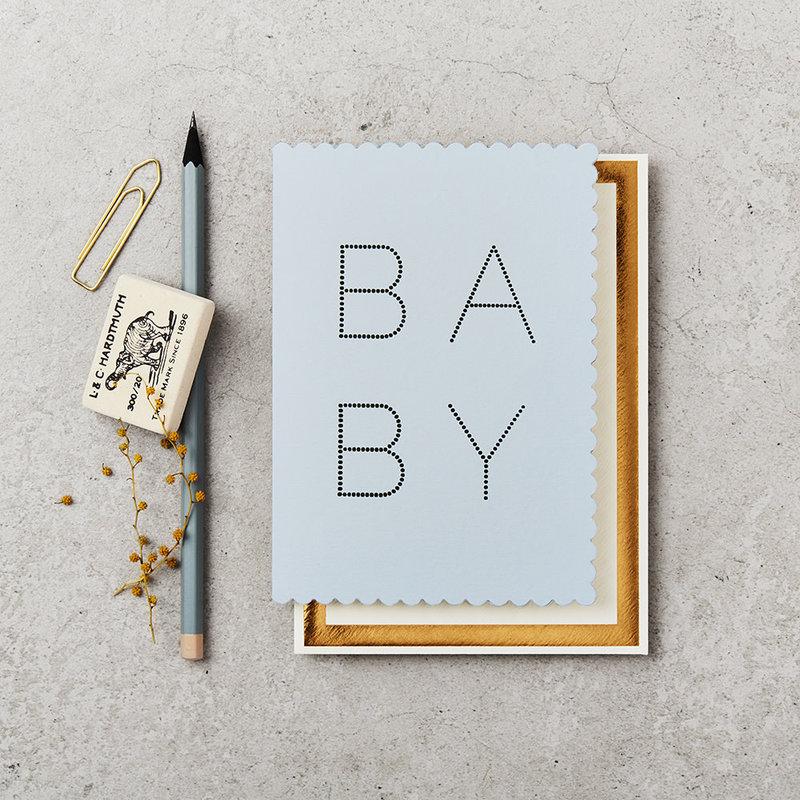 Katie Leamon Wenskaart - Luxe Baby Blue