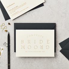 Katie Leamon Wenskaart - Bride & Groom Cream