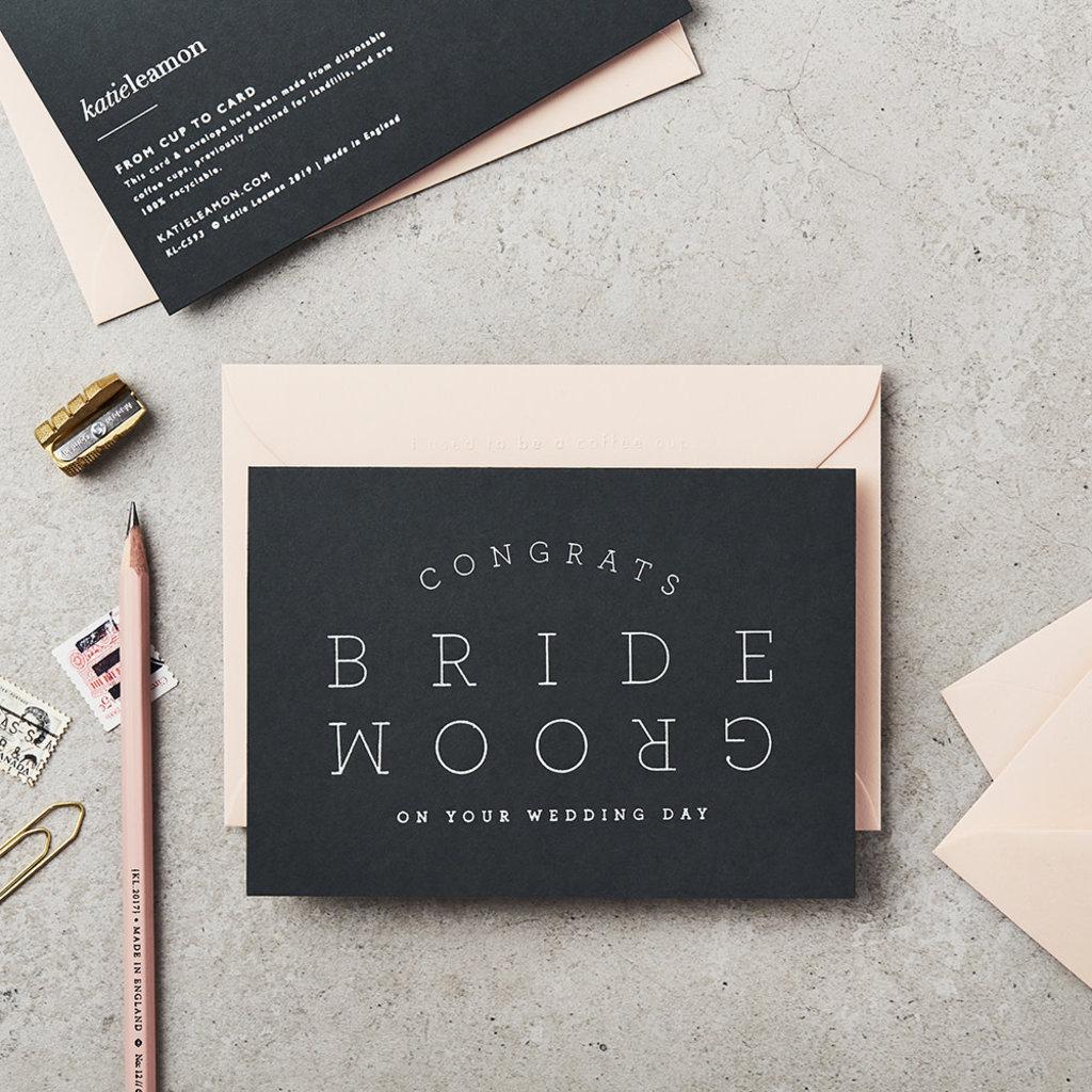 Katie Leamon Wenskaart - Bride & Groom Navy