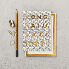 Katie Leamon Wenskaart - B&W Congratulations