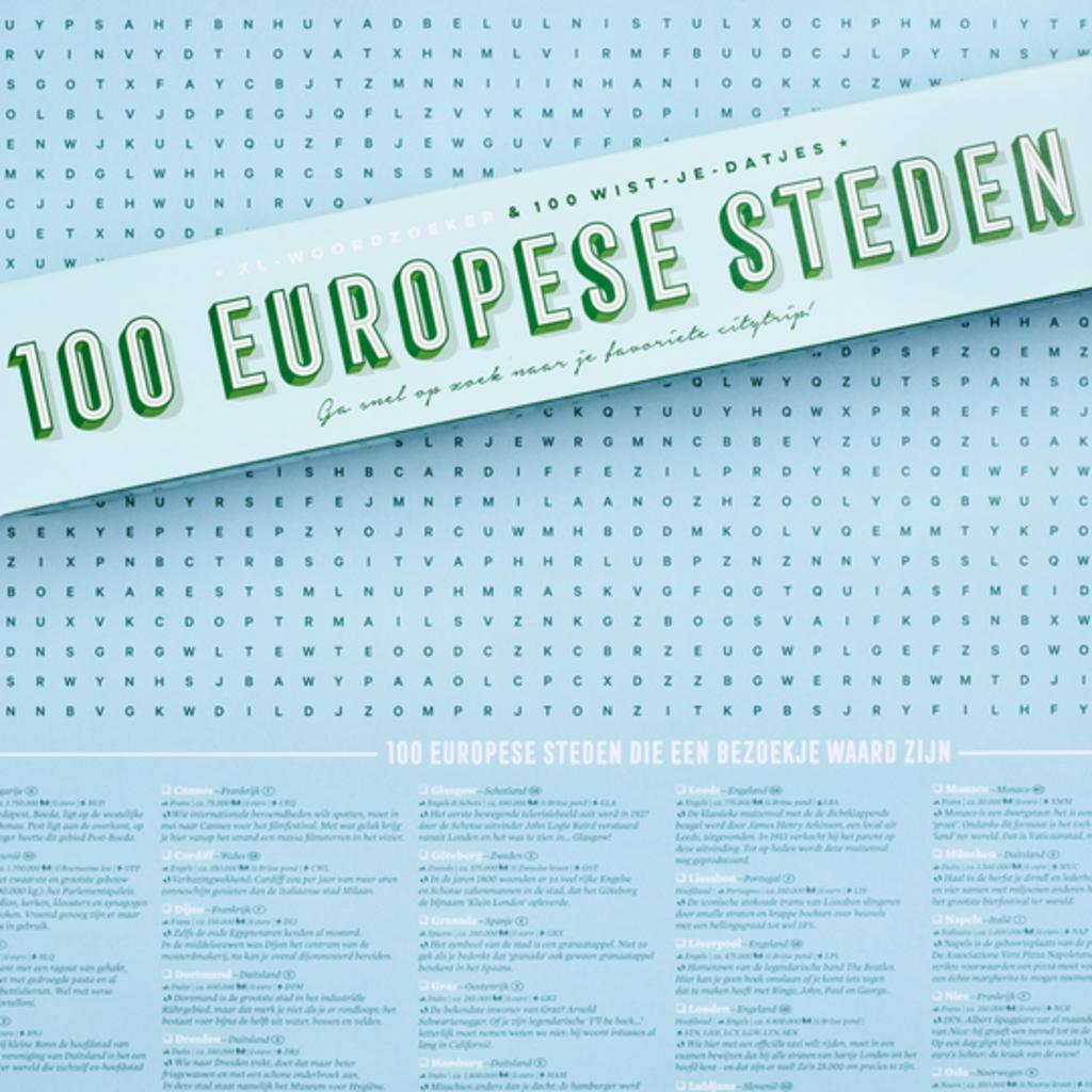 Stratier Stratier XL-Spelposter | 100 Europese steden