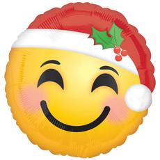 Santa Emoticon  - Folieballon (45cm)