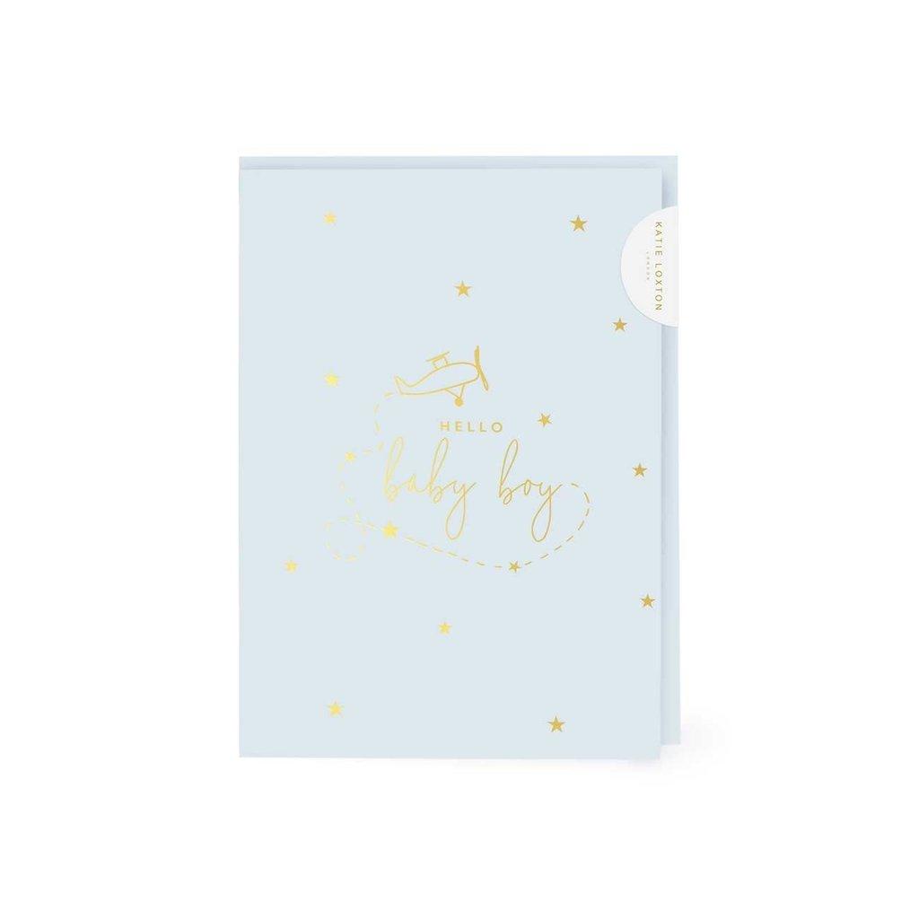 Katie Loxton Wenskaart | Hello Little Boy - A6
