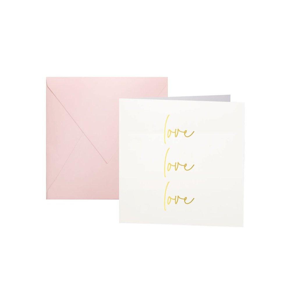 Katie Loxton Mini - Kaart - love love love hartjes