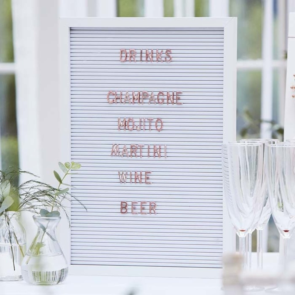 Ginger Ray Botanical WEDDING letterbord