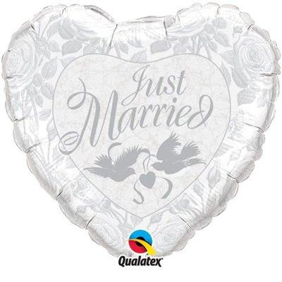 Qualatex Just Married - Folieballon (45cm)