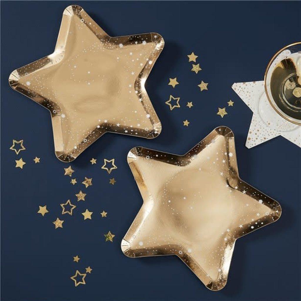 Ginger Ray Bordjes sterren goud (8 stuks)