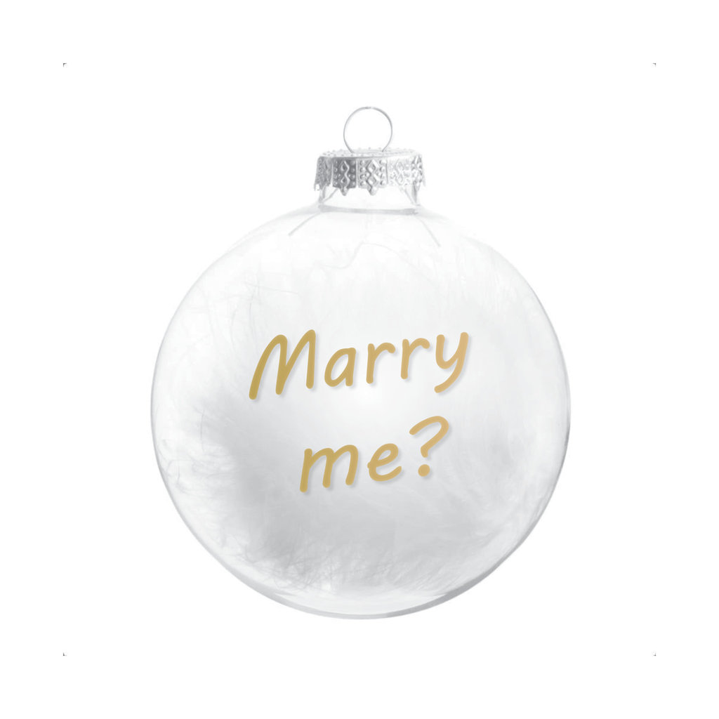 The Wedding & Party Shop Kerstbal - Marry me?