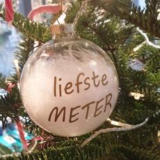 The Wedding & Party Shop Kerstbal - liefste Meter / liefste Peter