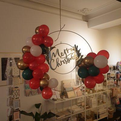 Balloon Bar Balloon Bar - Merry Christmas Balloon Circle