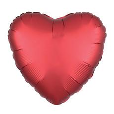 Anagram Folieballon - Hart satijn rood (45cm)