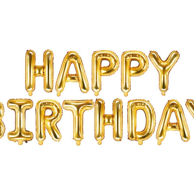 Gouden folieballon - HAPPY BIRTHDAY