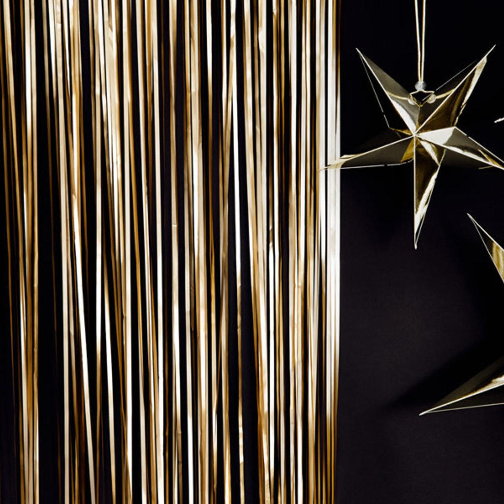 Partydeco Deurgordijn (goud) 90x250cm
