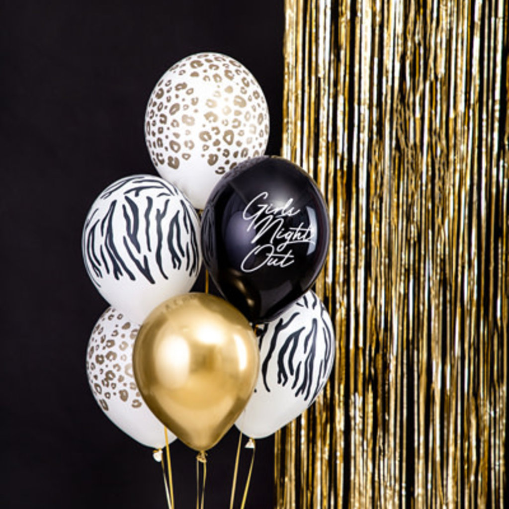 Partydeco Panterprint - Ballonnen 30cm (10st.)