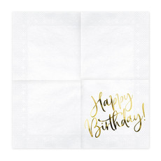 Partydeco Happy Birthday servetten (20st.)
