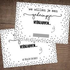 Hippekaartjes.nl Kraskaart baby