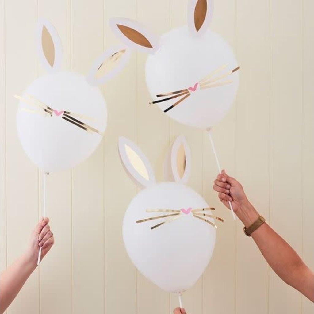 Ginger Ray Crazy Daisy D.I.Y.  konijn ballonenn (5st.)