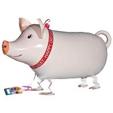"Qualatex Pet Walker - Folieballon - Mr. Pig (25""/64cm)"