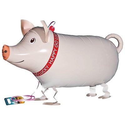 "Qualatex Pet Walker - Folieballon - Mr. Pig (25""/64cm)"