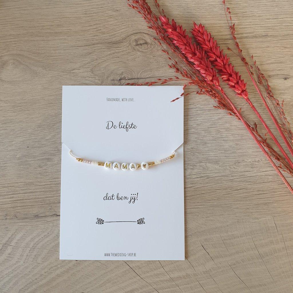 The Wedding & Party Shop Armband - De liefste mama dat ben jij!
