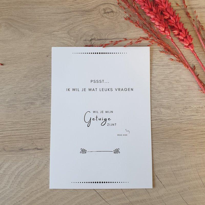 The Wedding & Party Shop Kraskaart - Wil je mijn getuige zijn?