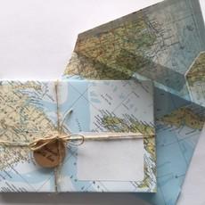 Happy Crane Atlas enveloppen - 5 stuks