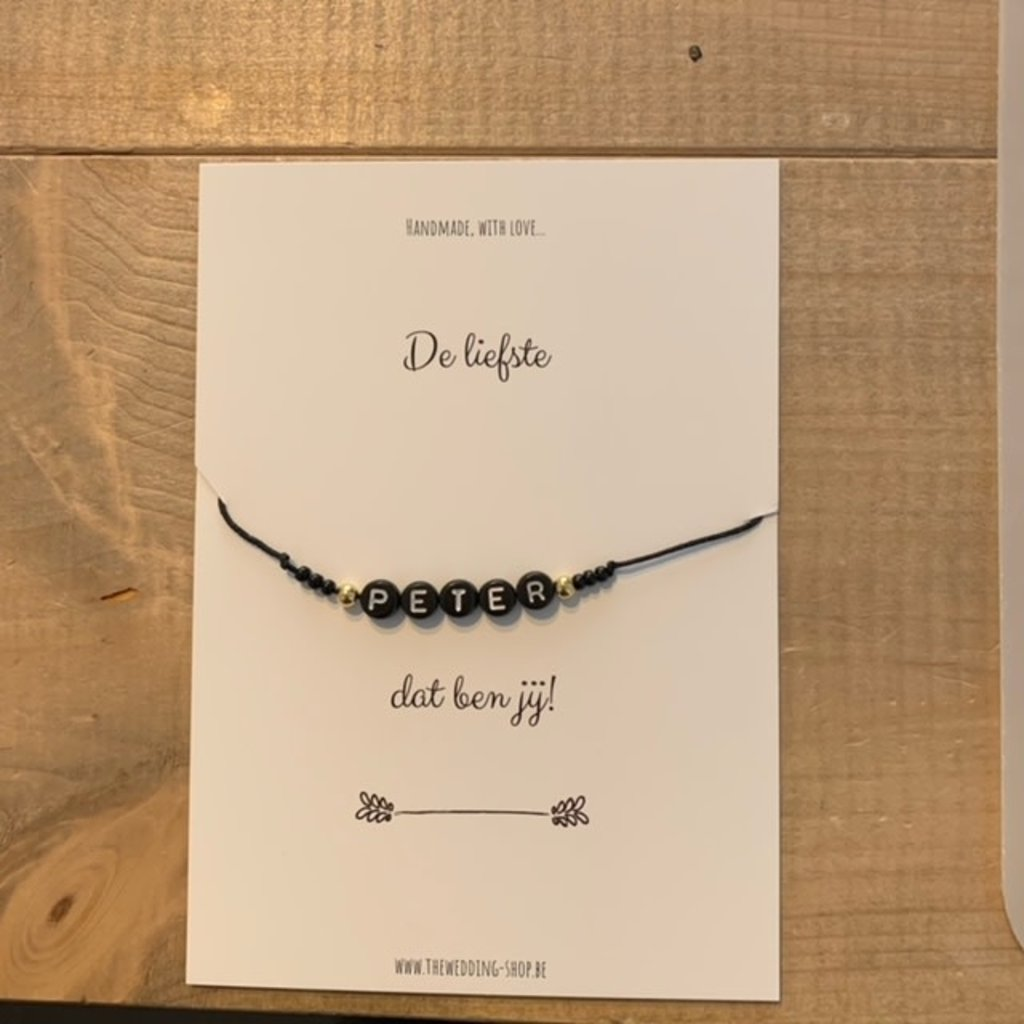 The Wedding & Party Shop Armband - De liefste peter dat ben jij!
