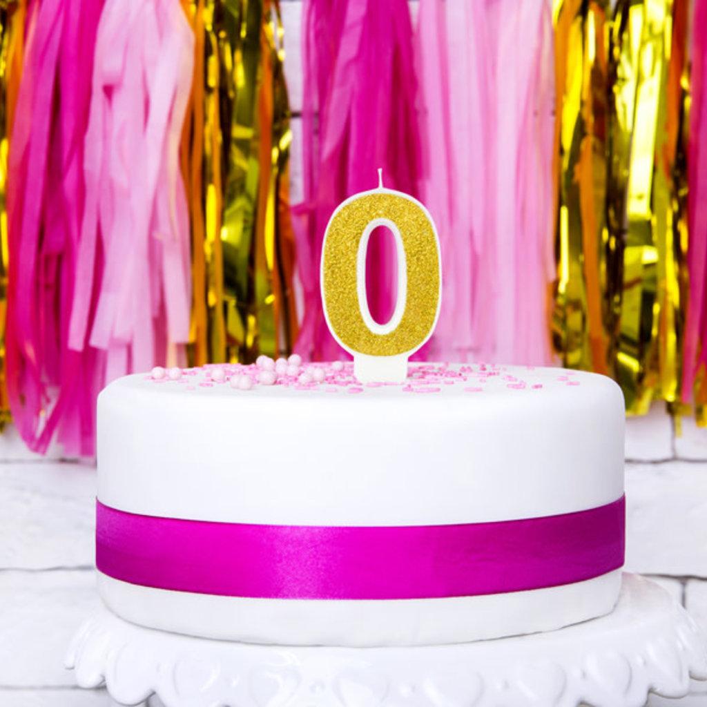Partydeco Glitter verjaardagskaars