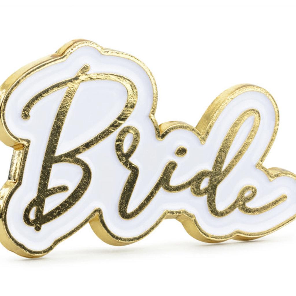 Partydeco Pin - Bride