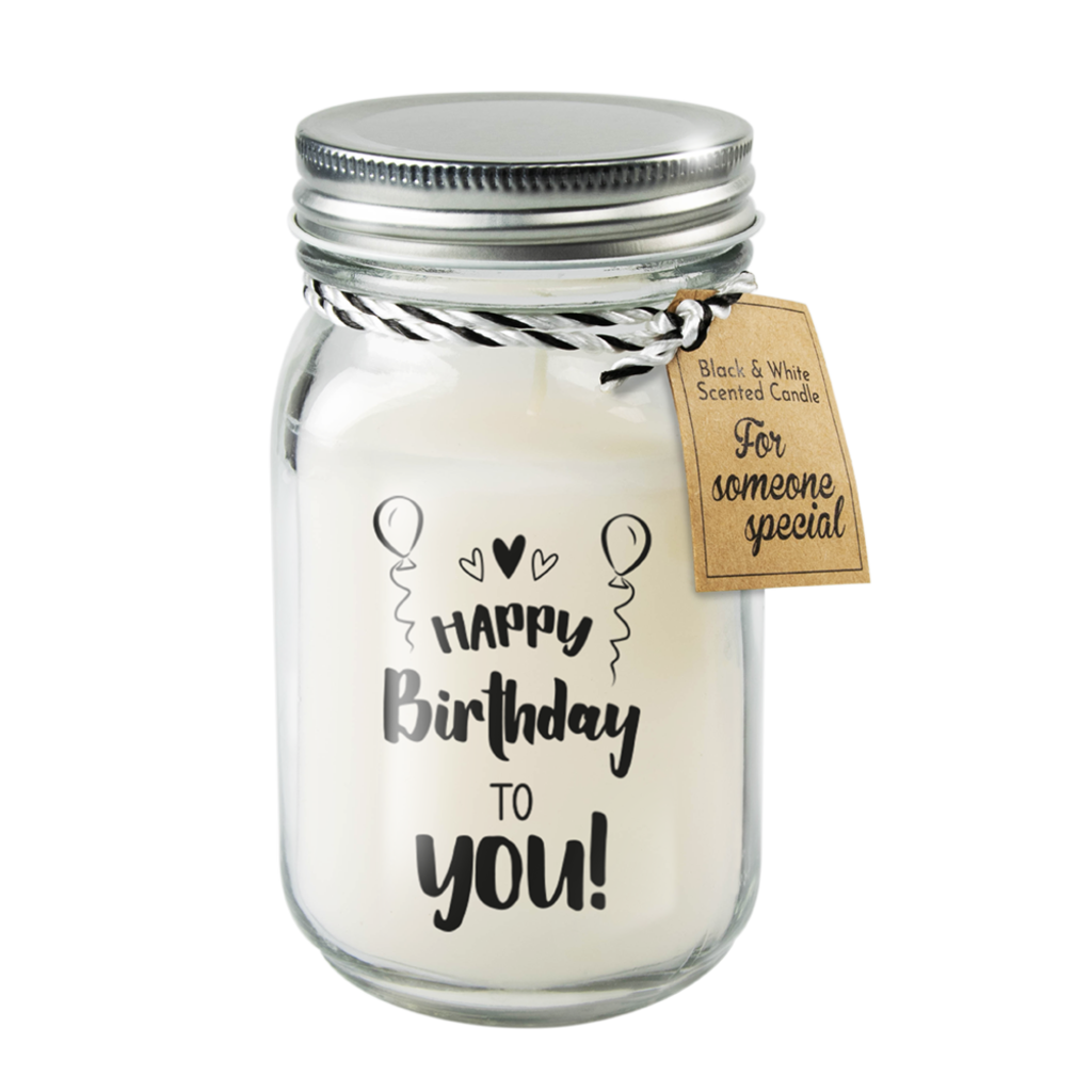 Paper Dreams Black & White scented candle - Happy Birthday