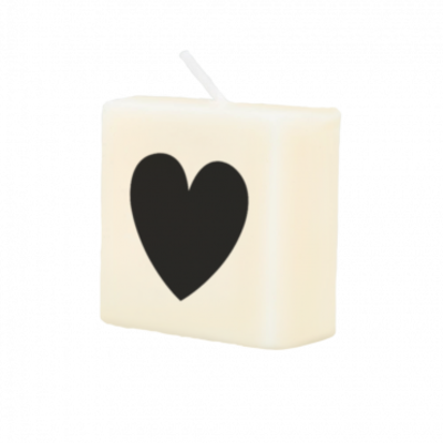 Paper Dreams Scrabble - Kaars  hartje (zwart)