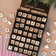 Paper Dreams Scrabble - Kaars  hartje (rood)