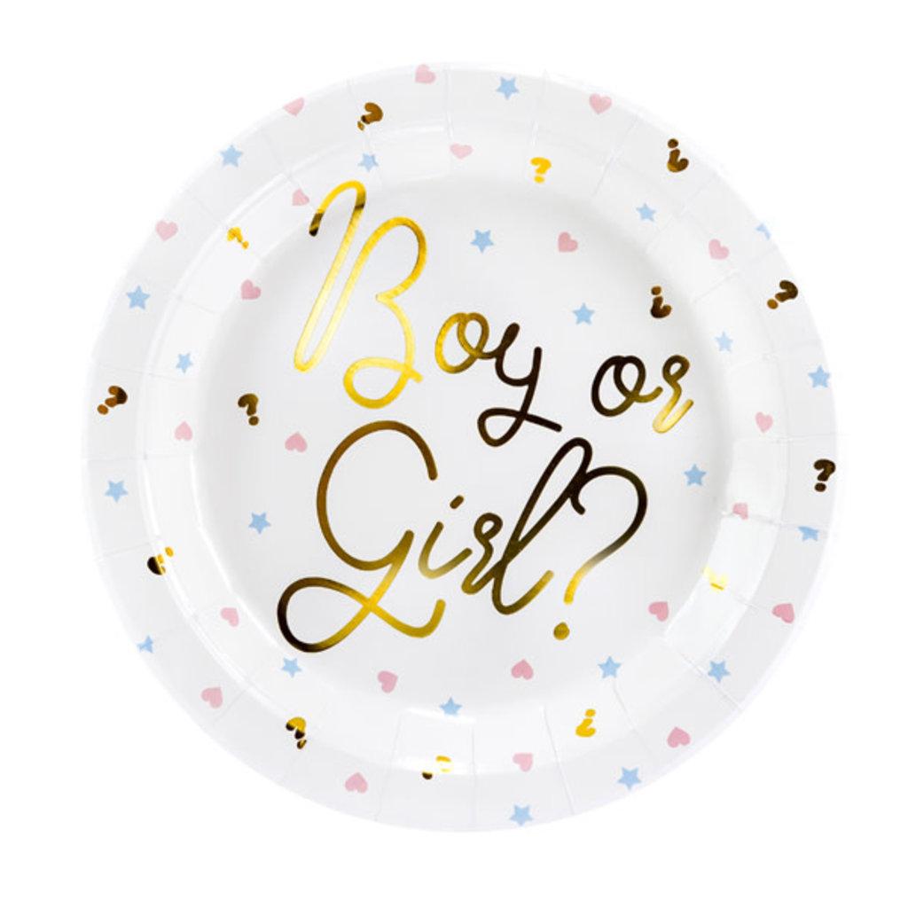 Partydeco Papieren borden Boy or Girl