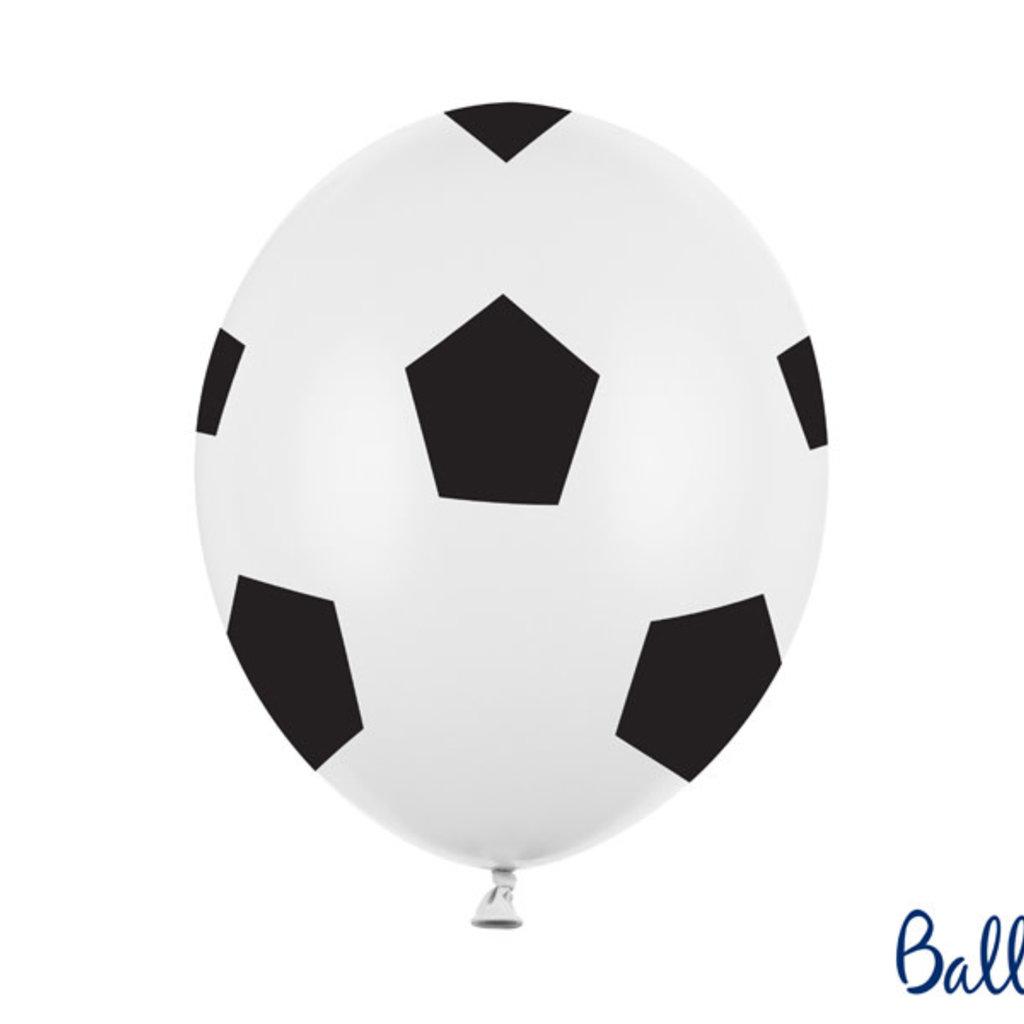 Partydeco Ballonnen - Voetbalprint (6st.)