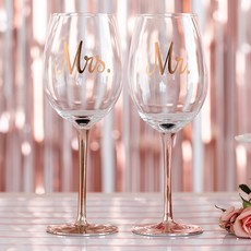 Weddingstar Rose Gold Wijnglas Mr