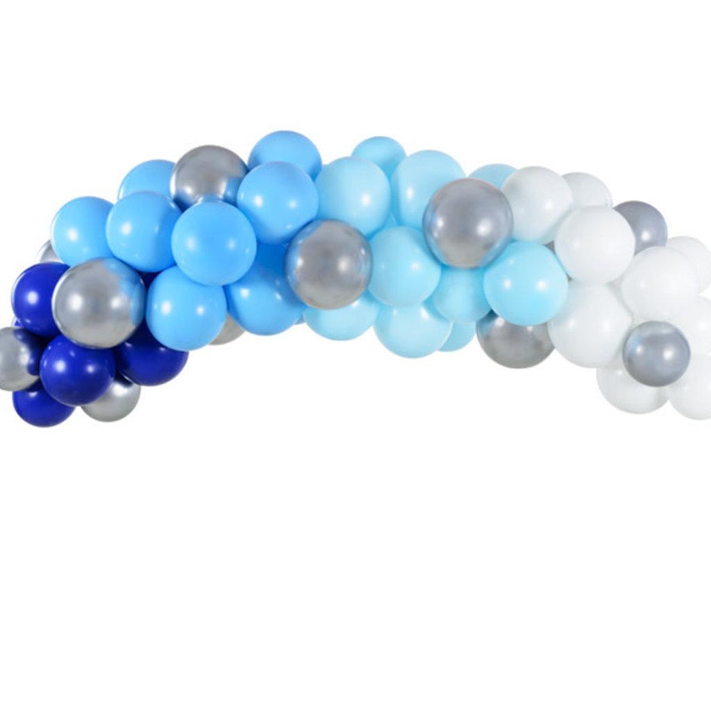 Partydeco Balloon Garland - Blue