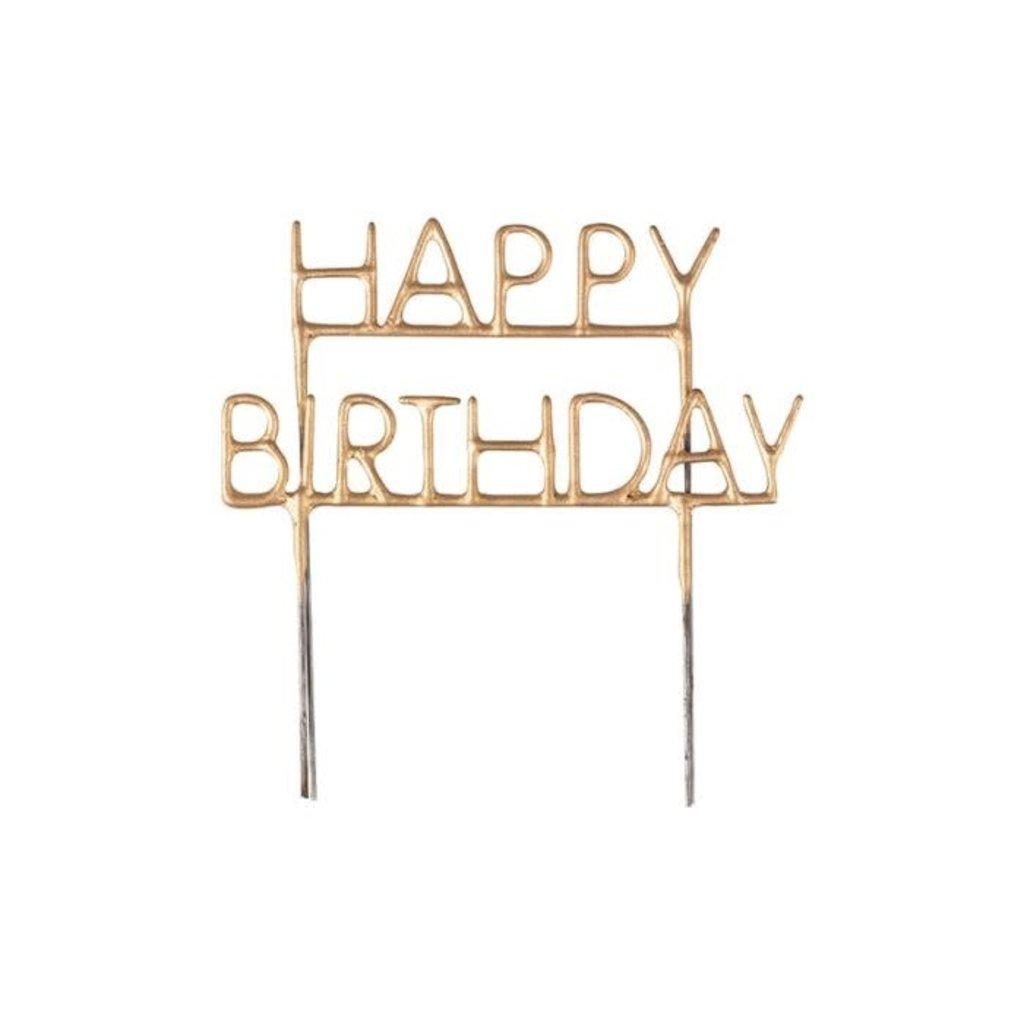 Ginger Ray Happy Birthday cake topper sparkler