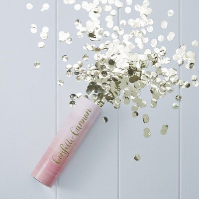 Ginger Ray Pink Ombre confetti cannon (gold)