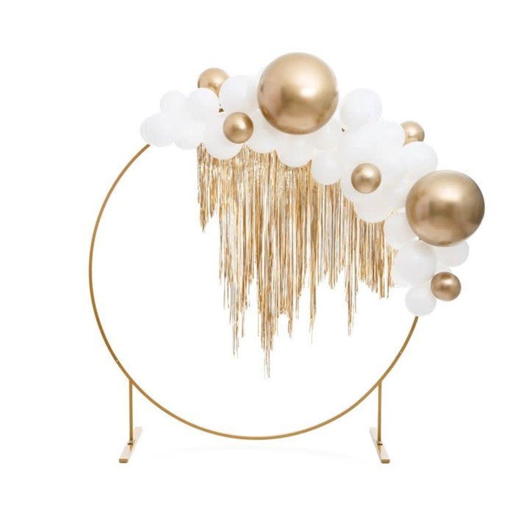 Partydeco Gouden backdrop - Cirkel 2 meter