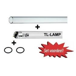 Set 30 Watt (Lamp/Kwartsglas/O-Ringen)